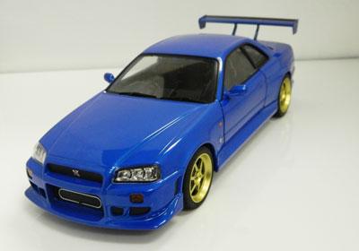 1999 Nissan Skyline GT-R R34 Blue