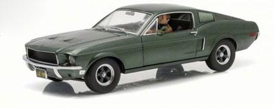 Bullitt Mustang with Steve McQueen figurine