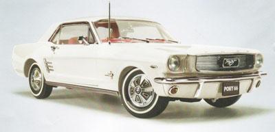 Ford 1966 Pony Mustang Wimbledon White RHD