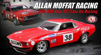 Allan Moffat 1969 Ford Boss 302 Trans Am Mustang # 38 Coca Cola